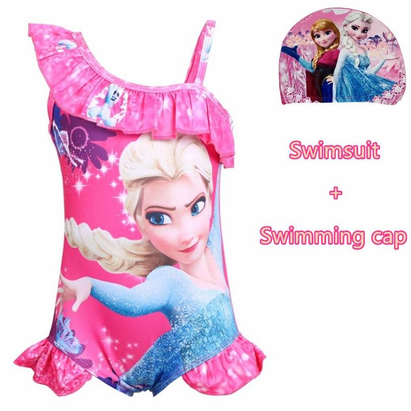 Girl Frozen Princess Cartoon One-piece Swimsuit Kid Baby Sunscreen Swimsuit Surf