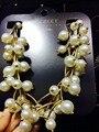 Colares oro Femininos collar de perlas de mujer moda oro granos pendientes declaración gargantillas collares de la joyería 2015 collier feme