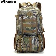 Camo Tactical Backpack Military Army Mochila 50L Waterproof Hiking Hunting Backpacks Travel Tourist Rucksack Outdoor Sports Bag