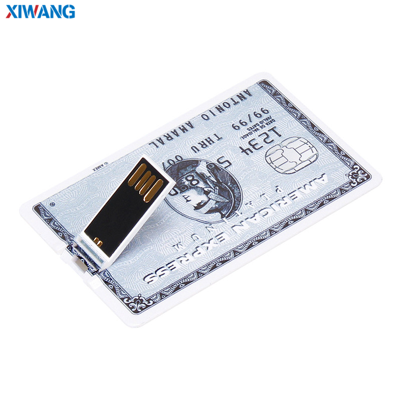 Image 3 - XIWANG USB Flash Drive credit card 128GB 64GB 32GB 16GB 8GB 4GB Real capacity HSBC card USB 2.0 pen drive memory stick best gift-in USB Flash Drives from Computer & Office