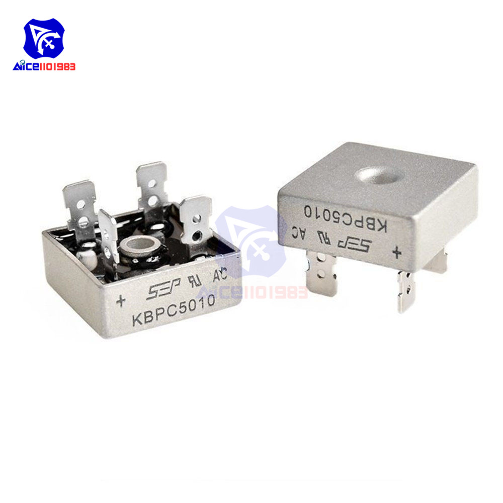 KBPC5010 Bridge Rectifier 50A 1000V AC Metal Case Single Phases Diode Bridge Rectifier