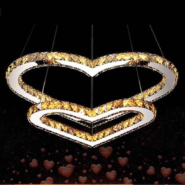 Modern Lustre LED Crystal Chandelier luminaria Heart-shaped Crystal Lamp chandelier lighting Bedroom Living Room Lamp  lamp