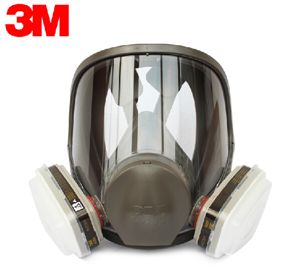 Sjl Full Face 6800 7 Piece Gas Mask Pesticides Facepiece Respirator Painting Spraying 6001 Filter Cartridge Chemical Medicine Factories And Mines Event & Party Festive & Party Supplies