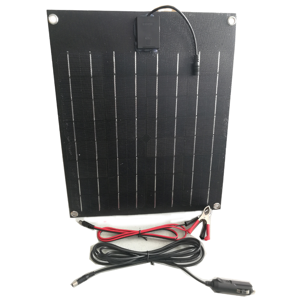 Total Black solar panel 20w flexible solar cell ETFE Film Coating semi panel solar battery charger