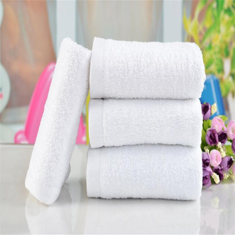 Bathroom Accessories 1Pc Soft Cotton 30*65cm Hotel Bath Towel Washcloths Hand Towels White 5.25