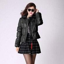 Дизайн короткий хлопок-ватник женские толстые топ мода slim верхняя одежда SIC-11153