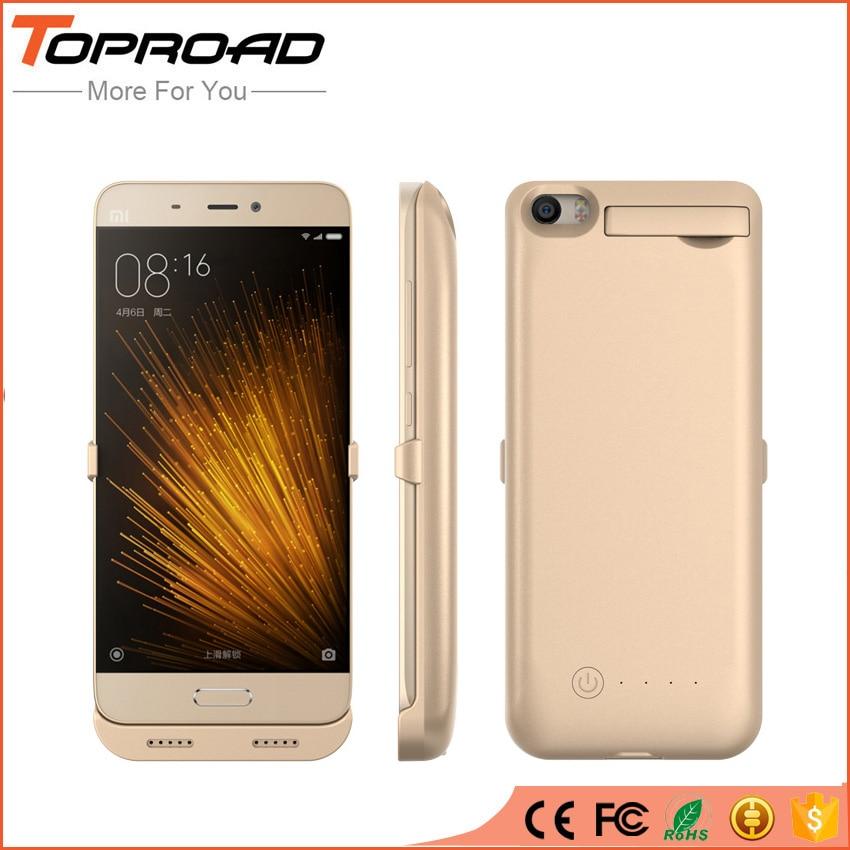 bilder für 4200 mAh Power Clip Batterie Fall für Xiaomi Xiao mi 5 M5 MI5 MI 5 External Power Bank Handy Ständer Halter Rückseite