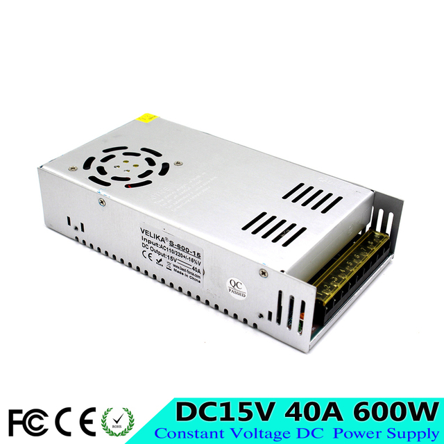Best quality Single Output Switching Power Supply 600W 15V 40A ...