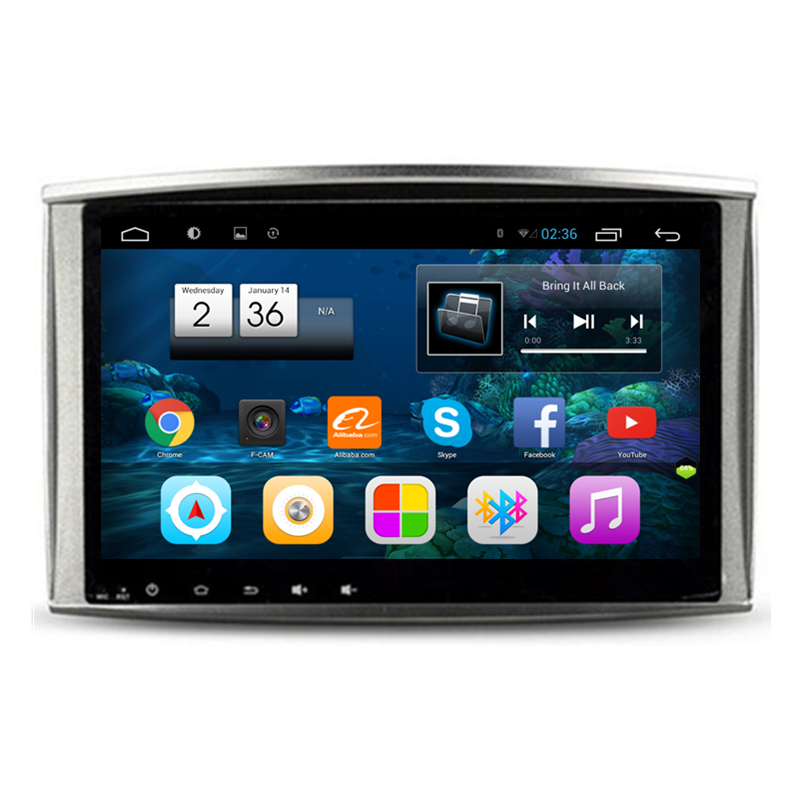 10.2 Android Car Stereo Audio Head Unit Headunit Autoradio for Lexus LX470 LX 470 Toyota Land Cruiser 100 LC100