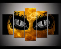 Print Unframed crazy Halloween picture dark black eye poster home decor wall art print Halloween Painting on canvas art /PT0035