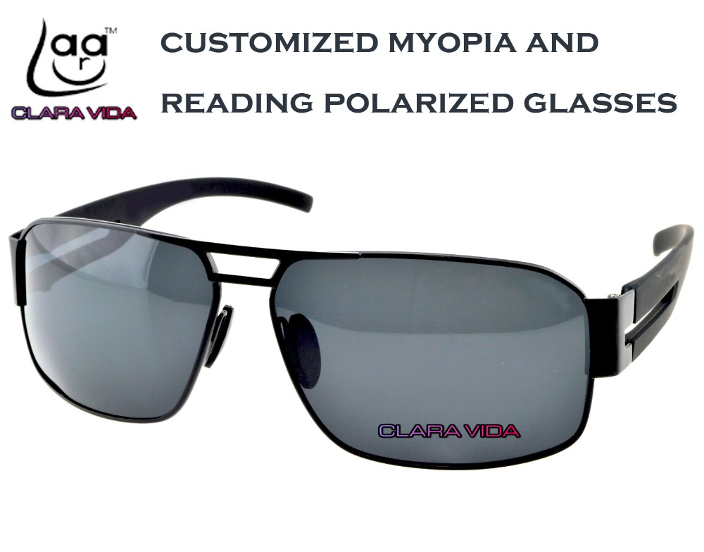 904457a9040  CLARA VIDA Polarized Reading Sunglasses black masculine MYOPIA Polarized  customized Sunglasses -1 TO -6 +1 +1.5 +2 To +4