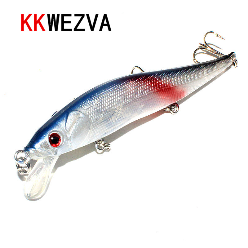 KKWEZVA 11.5cm 13.5g wLure Peshkimi Lure Hard BaitNickel Round Bend Treble Hook Jerkbait Slow Lundrues Slow Transfer Weight