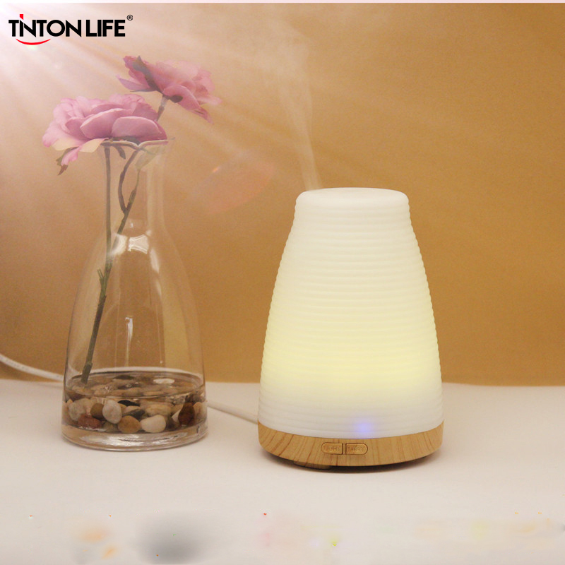 TINTON LIFE 100ML Colorful Humidifier Air Electric Aromatherapy Essential Oil Aroma Diffuser For Home Office hot sale humidifier aromatherapy essential oil 100 240v 100ml water capacity 20 30 square meters ultrasonic 12w 13 13 9 5cm