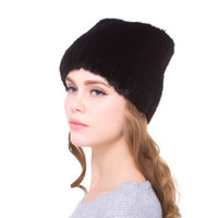 natural mink fur hand woven women's winter hat fur cap stretch shirt personality design 2018 new discount urban women love