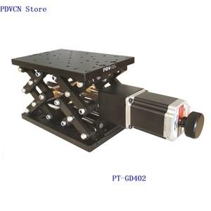 Image 2 - PT GD402 Motorized Lab Jack, Electric Lifting Platform,Elevator, Optical Sliding Lift, 110mm Travel linear slide axis