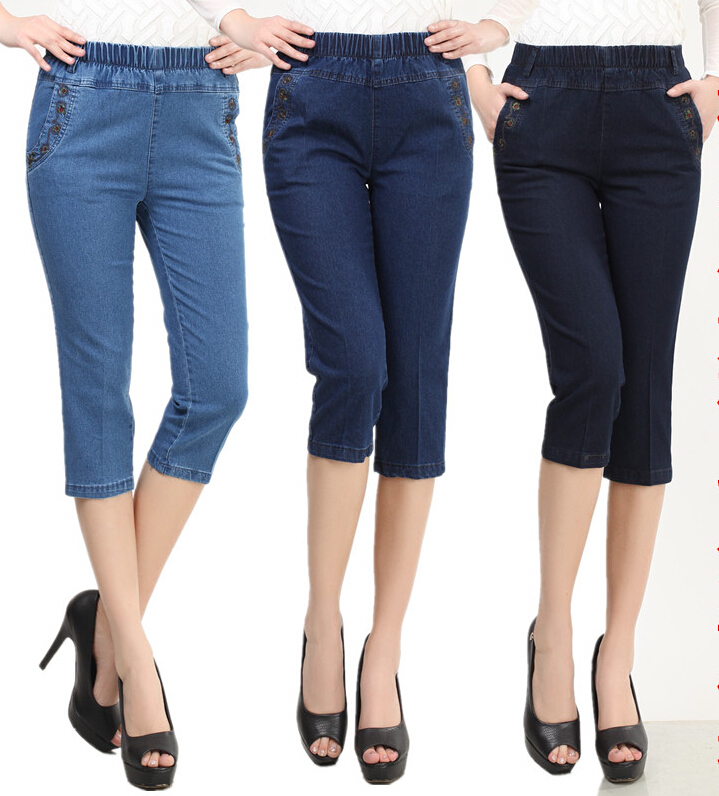 Plus Size Jeans For Women 2016 High Waist Spring Summer Autumn ...