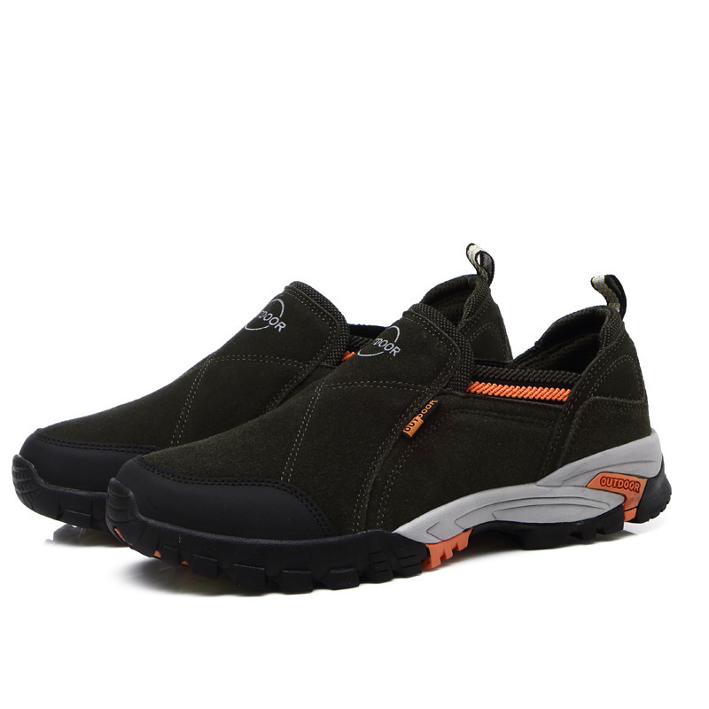 2019 Men Spring Summer Genuine Leather Outdoor Camping Fishing Sports Sneakers Cargo Boots  Non-slip Travel Male Climbing Shoes 2019 Men Spring Summer Genuine Leather Outdoor Camping Fishing Sports Sneakers Cargo Boots  Non-slip Travel Male Climbing Shoes