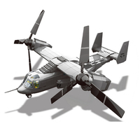 Wange Model Building Kits Compatible With Lego Osprey Tilt Rotor 3D Blocks Educational Model Building Toys