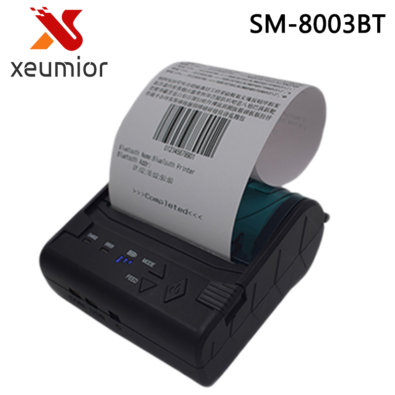 SM-8003BT Cheap 80mm portable mini mobile android/ios bluetooth printer mini thermal receipt printer handheld pos printer goojprt mtp 3 portable 80mm bluetooth thermal printer exquisite lightweight design eu plug support android pos multi language