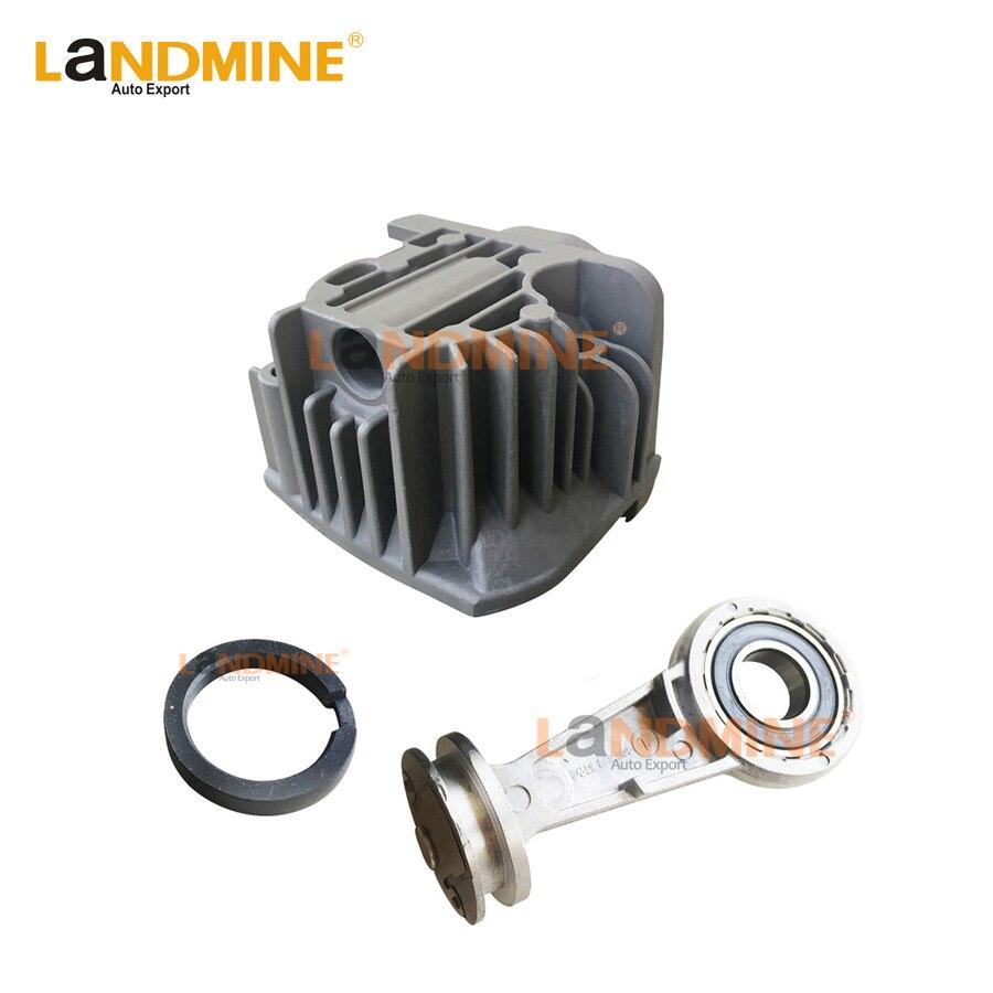 Livraison gratuite Suspension pneumatique pompe à Air culasse avec Piston joint torique Kit de réparation pour BMW X5 E53 A6 Q7 L322 4L0698007A