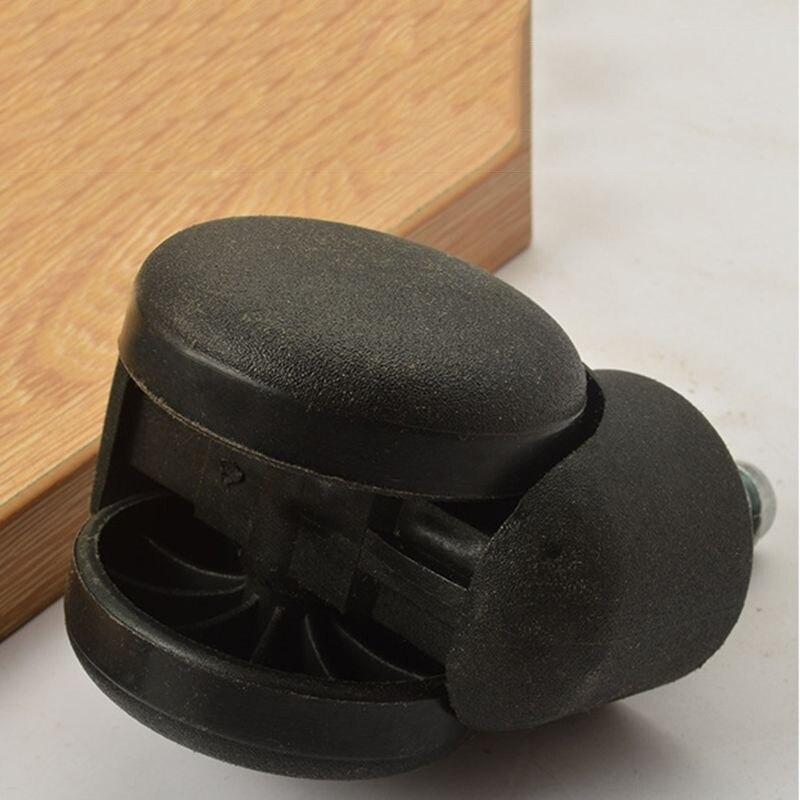 5 Stücke 50mm Büro Stuhl 360 Grad Swivel Roller Castor Räder Schwarz Tropfen Einkaufen Angenehme SüßE