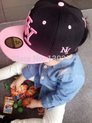 Free shipping 2017 NY Kids Snapback Cartoon Embroidery Children Cotton  Baseball Cap Baby Boys Girl Snapback Caps Hip Hop Hats-in Hats   Caps from  Mother ... 1f345b9a8b0