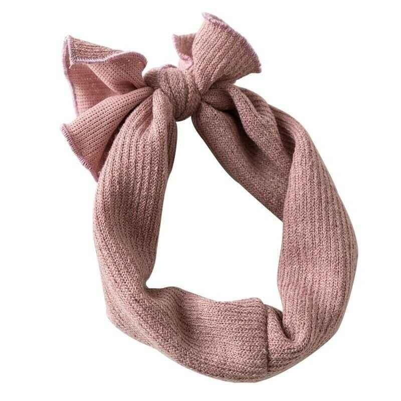 2019 bébé accessoires bébé filles lapin enfants solide Turban noeud noeud bandeaux tête Wrap lapin tricoté bandeau gros cadeau