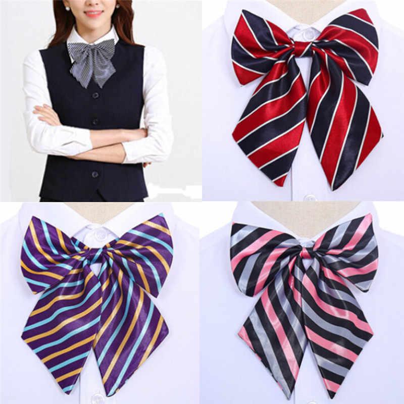 JCAAAP Vintage rayé noeuds papillon cravate en soie noeud papillon col usure col mariage