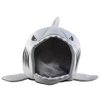 Dog Cat Bed Shark Mouse Shape Washable Dog House Pet Sleeping Bed Dog Kennel Pet Nest