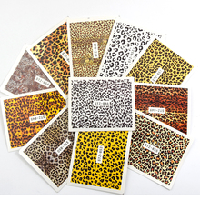 цена на 19Sheets Leopard Print Nail Water Decals Full Leopard Nail Stickers All Seeing Eyes Nail Art Transfer Sticker Decals