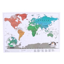 Buy scratch map and get free shipping on aliexpress 1 pcs new high quality creative travel scratch off map personalized world map stationary supply gumiabroncs Images