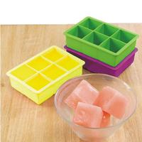 DIY Ice Cube Mold Square Shape Silicone Ice Tray Fruit Ice Cube Ice Cream Maker Kitchen Bar Drinking Accessories 5 Colors