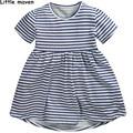 Little maven children brand clothes 2017 new summer baby girls clothes kids Cotton striped dress L019