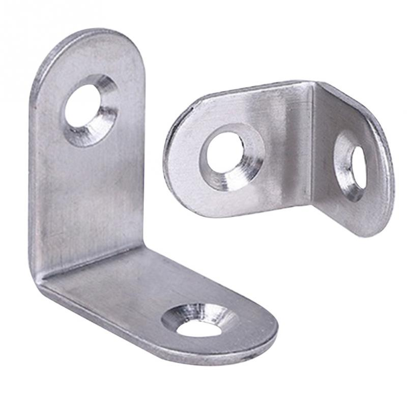 10pcs L Shape Plated Corner Brace Joint Right For Furniture 30x30x16mm Shelf Support Angle Brackets Corner Braces Silver ned 40x40x20mm practical stainless steel corner brackets joint fastening right angle 2mm thickened furniture bracket with screws