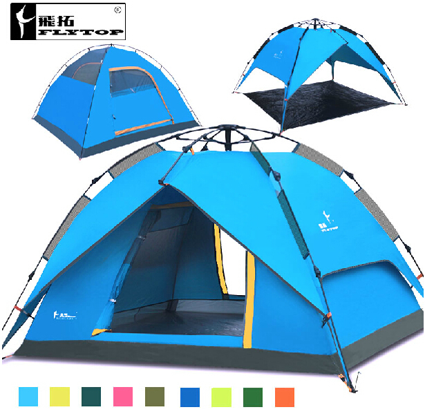 Hot Sale flytop Automatic Tent Tourist 3 Person Barraca Canvas Tents C&ing Family Equipment Outdoor Tente Travel Waterproof-in Tents from Sports ...  sc 1 st  AliExpress.com & Hot Sale flytop Automatic Tent Tourist 3 Person Barraca Canvas ...