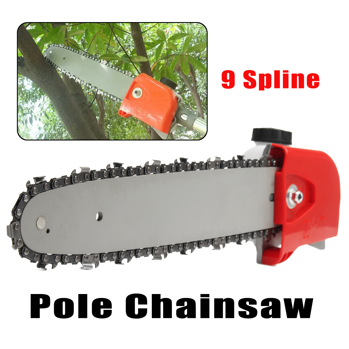 цена 26mm 7/9 Spline Pole Saw Tree Cutter Chainsaw Bracket Gearbox Gear Head Tool Replacement Part Power Tool Accessories