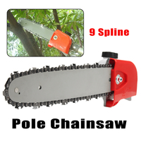 26mm 7/9 Spline Pole Saw Tree Cutter Chainsaw Bracket Gearbox Gear Head Tool Replacement Part Power Tool Accessories