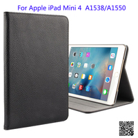 Case For iPad Mini 4 Tablet PC Leather Stand Sleep/Wake Up Smart Protective Sleeve Cover For Mini 4 7.9 A1538 A1550 Gift