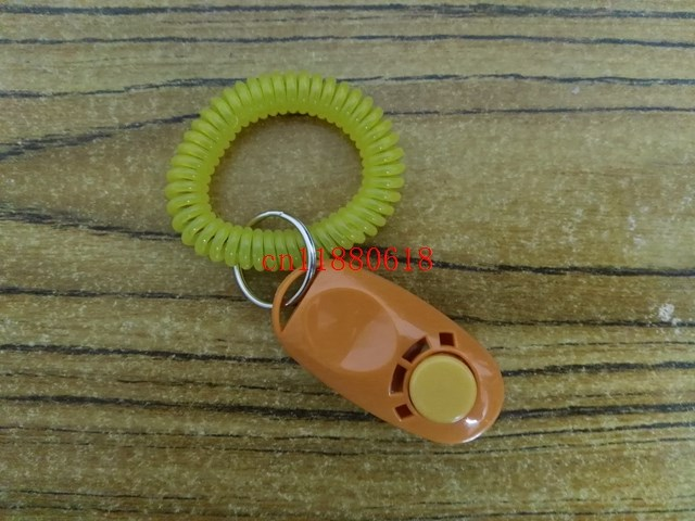 100pcs lot DHL Fedex Free Shipping Wholesale clickers pet dog cat horse bird click obedience clicker