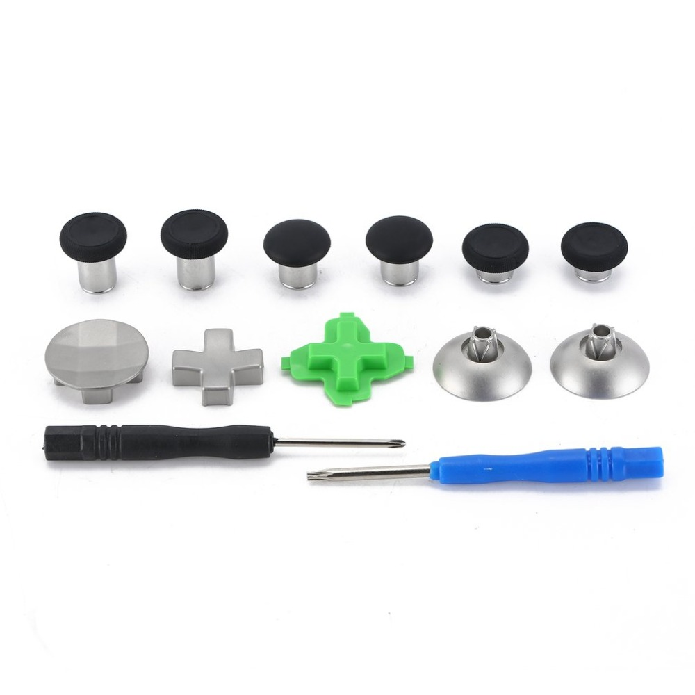 15pcs Thumbsticks Dpad Paddles Replacement Mod Kit for Xbox One Elite  Controller