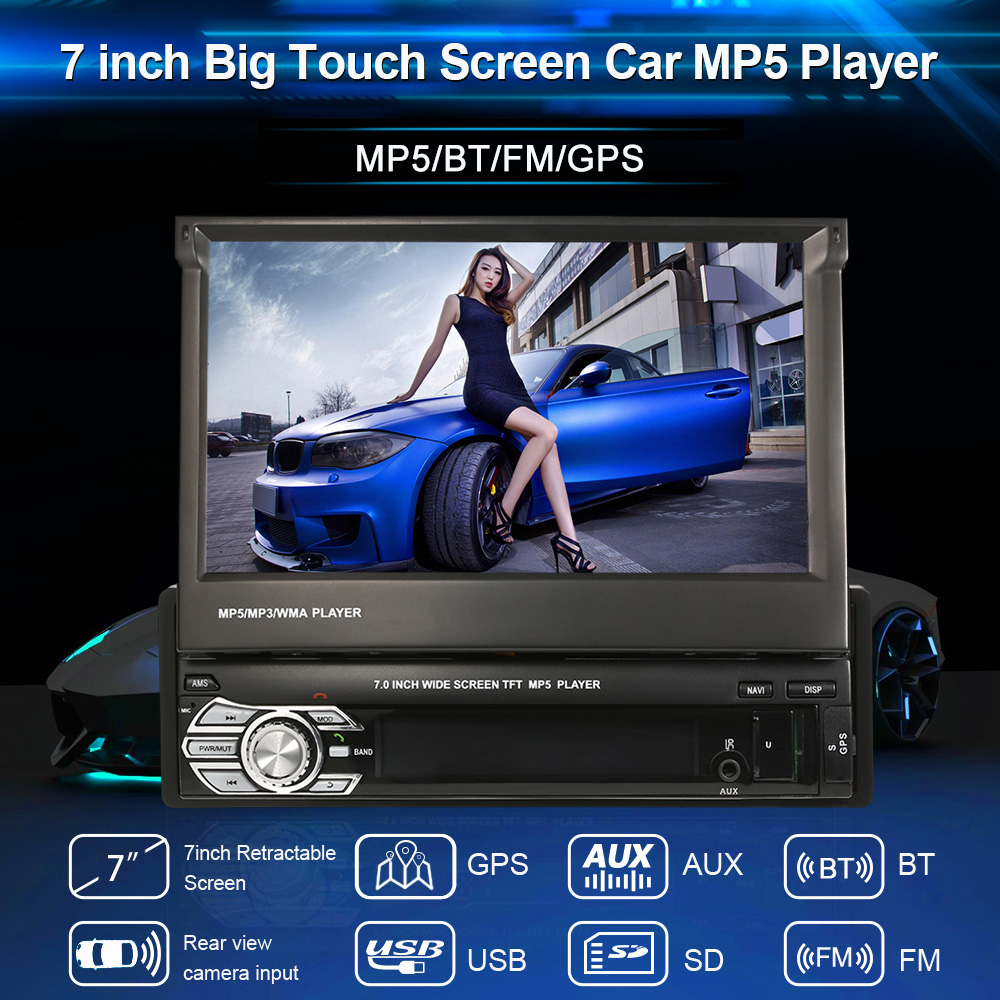 Autoradio Cassette Recorder Car MP5 Media Player Automagnitola 1 Din GPS Navigation BT Radio Receiver With