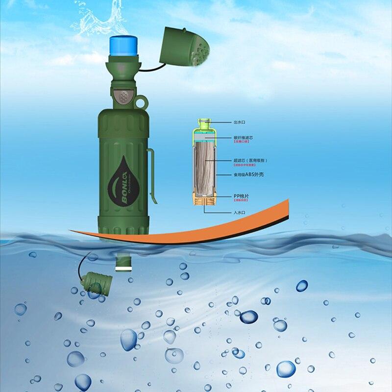 Открытый Отдых аварийного выживания бутылка для воды инструмент Портативный инструменты очиститель воды фильтр Системы с фильтрацией Ёмк...