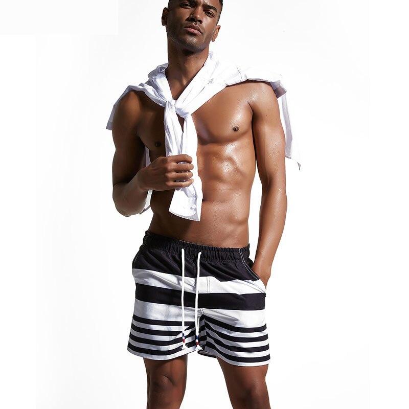Jeebel Surf Board Beach Shorts Men Large size Swim Trunks Drawstring Sports Pants Swimsuit Sportswear Black Swimwear