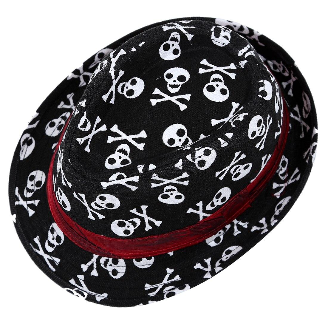 Niño niños Baby Niños Niñas Cap sombrero fedora negro con patrón de ... 993af97e3fb