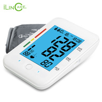 New Ultra thin Digital Sphygmomanometer Upper Arm Blood Pressure Monitor Micro USB Tonometer Blood Pressure Meter Larger Cuff