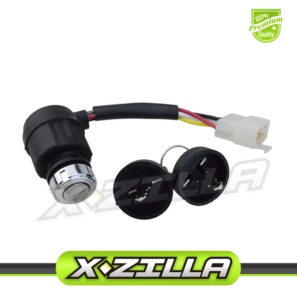 5 Wire Ignition Key Switch With Cap For 50cc 70cc 90cc