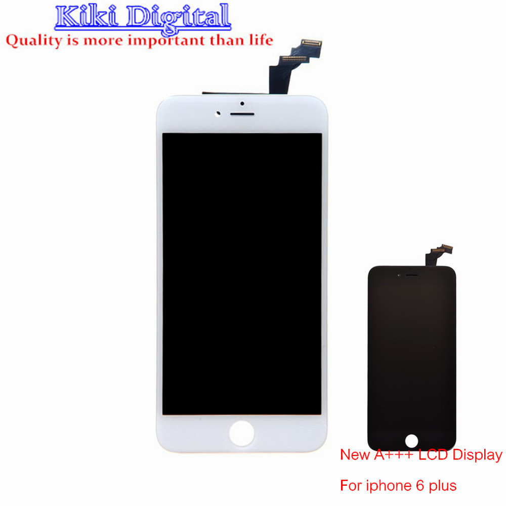 WOJOQ 10pcs Guarantee Quality AAA LCD Screen For iPhone 6 Plus LCD Touch Display Glass Digitizer Assembly 5.5 inch