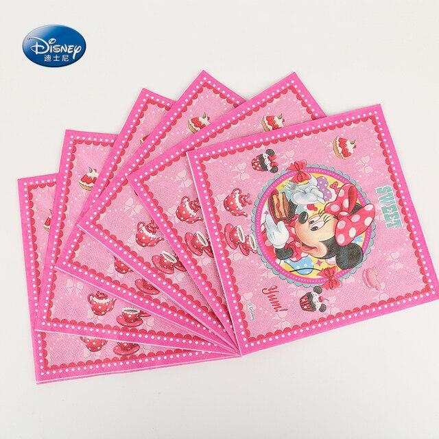 Disney Minnie Mouse dibujos animados servilletas fiesta de cumpleaños de  los niños favores servilletas de papel 9ed6c82ebf4