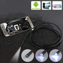 480P Android Endoscope Camera Inspection Camera 1m 2m Wire Borescope 6 Leds light USB Endoskop Camera For PC Pad Phone Tablet