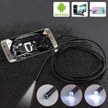 Android Endoscope Camera Inspection Camera 1m 2m Wire Borescope 6 Leds light USB Endoskop Camera For